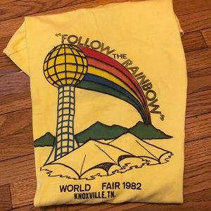 """Vintage """"Follow The Rainbow""""  1982 Worlds Fair Tee"""